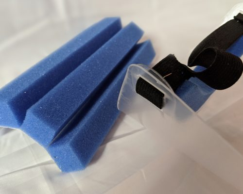 Adhesive Urethane Foam Tape Strip For Brow Liner On Face Mask.
